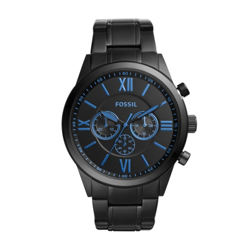 Fossil Flynn Chronograph Black Stainless Steel Watch BQ2260