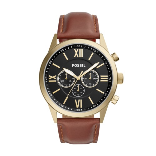 Fossil Flynn Chronograph Brown Leather Watch BQ2261