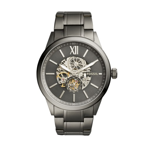 Fossil Flynn Automatic Smoke Stainless Steel Watch BQ2268