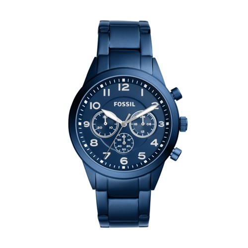 Fossil Flynn Pilot Chronograph Blue Stainless Steel Watch BQ2275