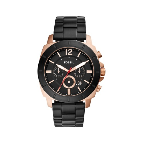 Fossil Privateer Sport Chronograph Black Stainless Steel Watch BQ2290
