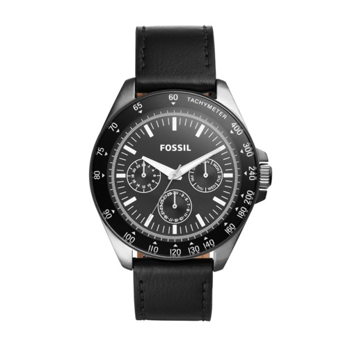 Neale Multifunction Black Leather Watch BQ2293