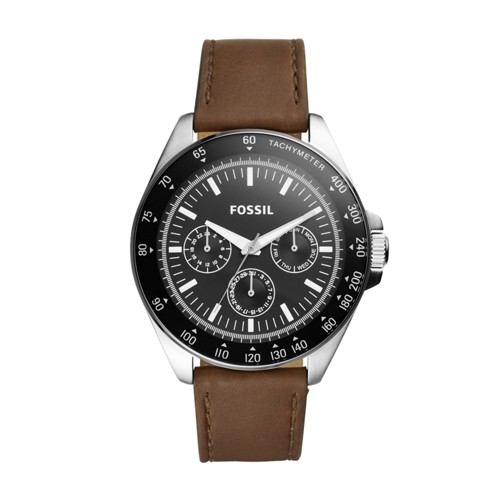 Fossil Neale Multifunction Brown Leather Watch BQ2294