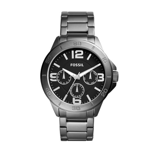 Modern Century Multifunction Smoke Stainless Steel Watch BQ2297