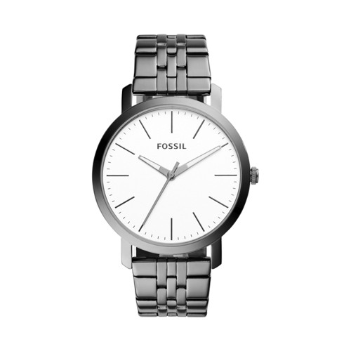 Fossil Luther Three-Hand Smoke Stainless Steel Watch  Jewelry