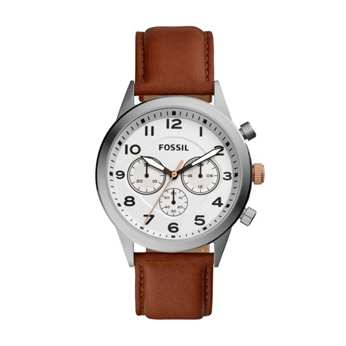 Fossil Flynn Pilot Chronograph Brown Leather Watch BQ2314