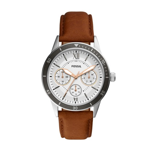 Fossil Flynn Sport Multifuntion Brown Leather Watch Bq2315