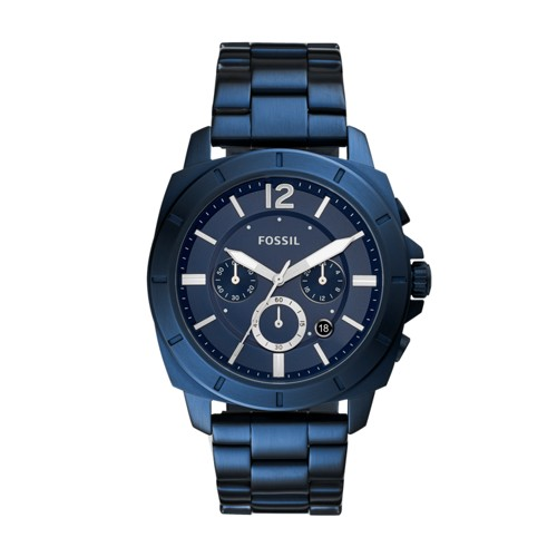 Fossil Privateer Sport Chronograph Ocean Blue Stainless Steel Watch BQ2319