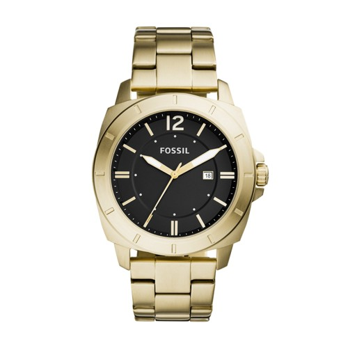 Fossil Privateer Sport Three-Hand Date Gold-Tone Stainless Steel Watch Bq2321