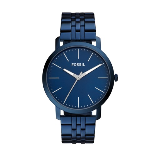 Fossil Luther Three Hand Ocean Blue Stainless Steel Watch BQ2324