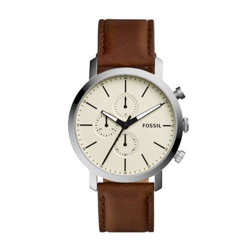 Fossil Luther Chronograph Brown Leather Watch BQ2325