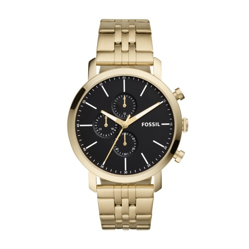 Fossil Luther Chronograph Gold-Tone Stainless Steel Watch BQ2329