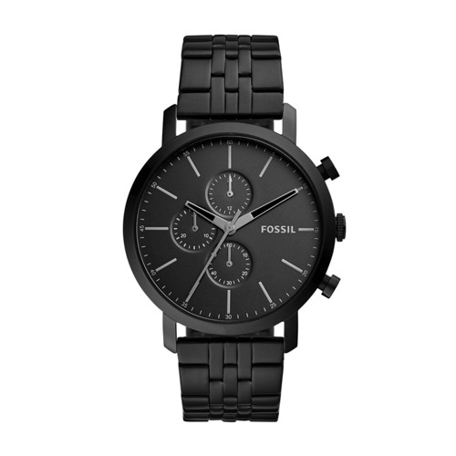 Fossil Luther Chronograph Black Stainless Steel Watch BQ2330IE