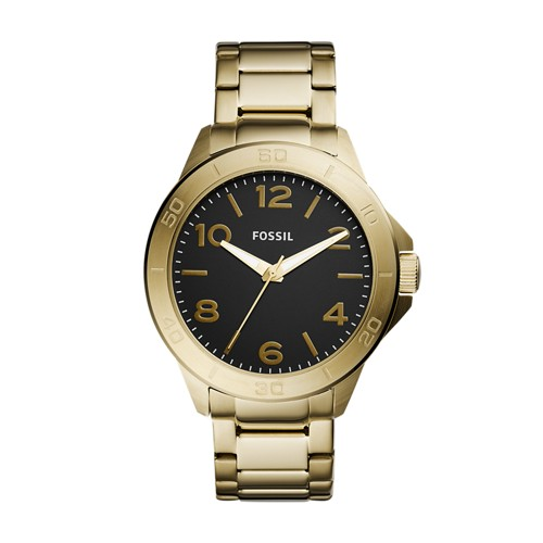 Fossil Modern Century Three-Hand Gold-Tone Stainless Steel Watch BQ2332