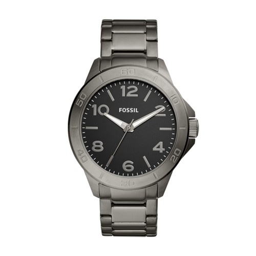 Fossil Modern Century Three-Hand Smoke Stainless Steel Watch BQ2333