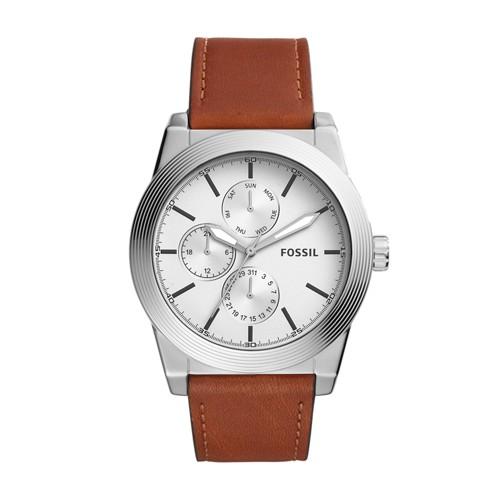 Fossil Geoff Multifunction Brown Leather Watch BQ2335