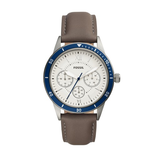 Fossil Flynn Sport Multifunction Gray Leather Watch BQ2341
