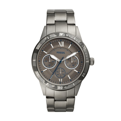 Fossil Flynn Sport Multifunction Smoke Stainless Steel Watch BQ2342