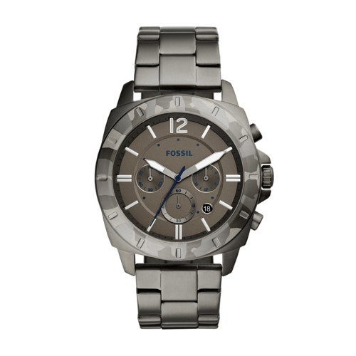 Fossil Privater Sport Chronograph Smoke Stainless Steel Watch BQ2345