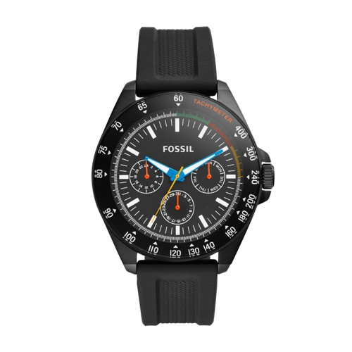 Neale Three-Hand Black Silicone Watch BQ2355