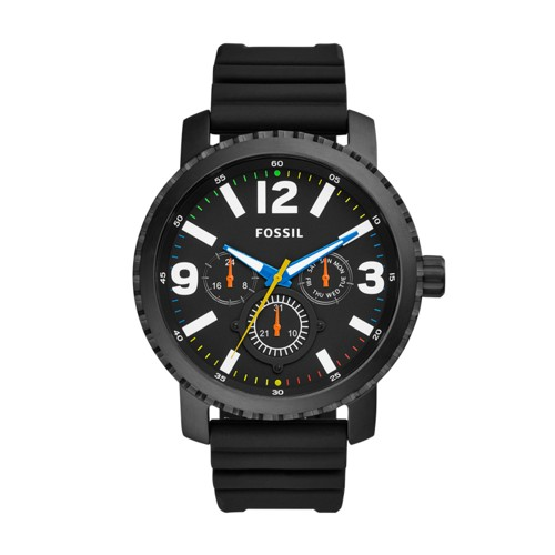 Fossil Gage Multifunction Black Silicone Watch BQ2357