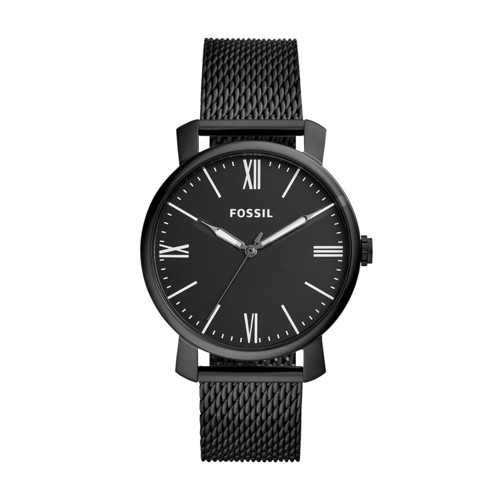 Rhett Three-Hand Black Stainless Steel Watch BQ2369