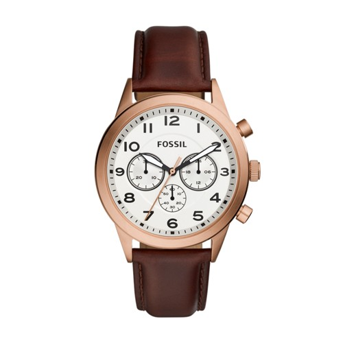 Fossil Flynn Pilot Chronograph Brown Leather Watch BQ2374