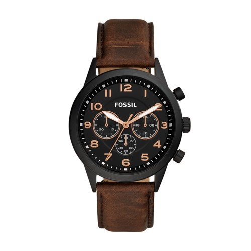 Fossil Flynn Pilot Chronograph Brown Leather Watch BQ2375