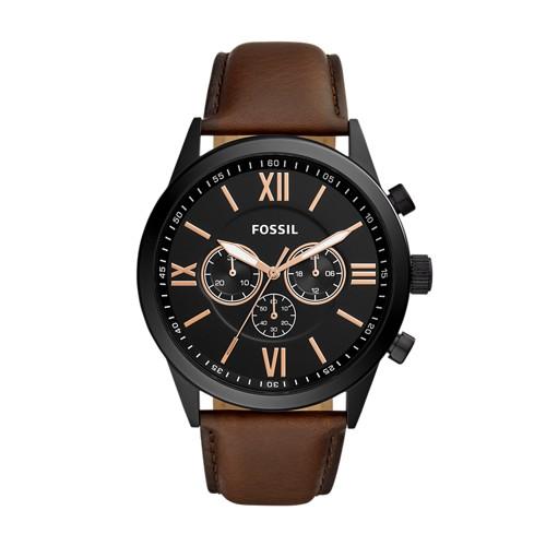 Flynn Chronograph Brown Leather Watch BQ2376