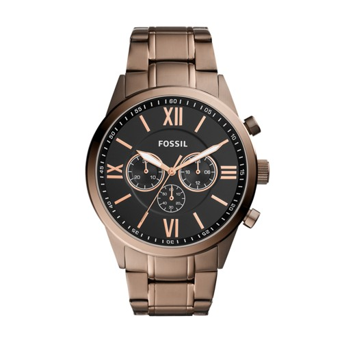 Flynn Chronograph Brown Stainless Steel Watch BQ2377