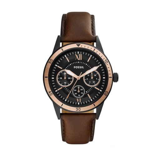 Fossil Flynn Sport Multifunction Brown Leather Watch BQ2378