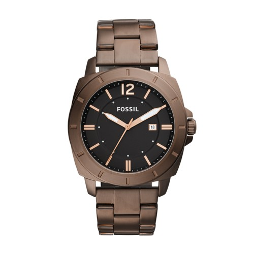 Fossil Privateer Sport Three-Hand Date Brown Stainless Steel Watch BQ2379