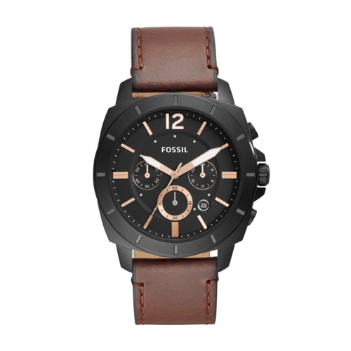 Fossil Privateer Sport Chronograph Brown Leather Watch BQ2380IE
