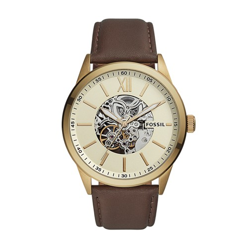 48mm Flynn Automatic Brown Leather Watch BQ2382