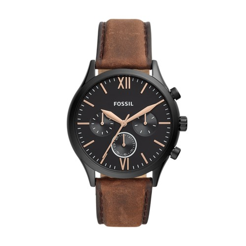 Fenmore Midsize Multifunction Brown Leather Watch BQ2411