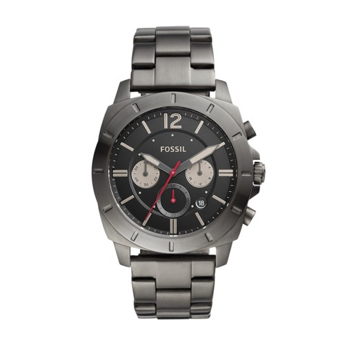 fossil Privateer Sport Multifunction Smoke Stainless Steel Watch BQ2413IE