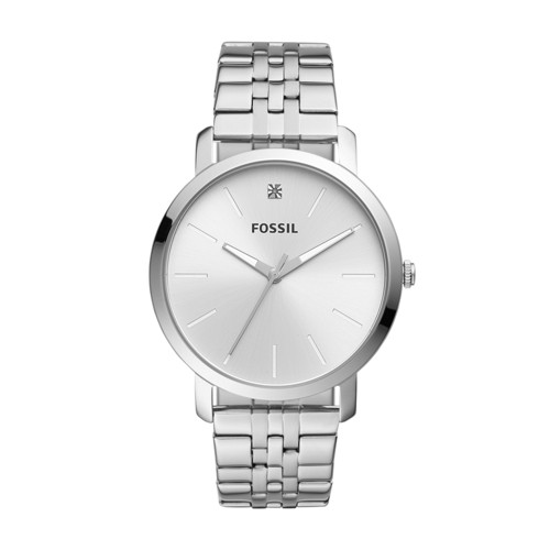 fossil Lux Luther Three-Hand Stainless Steel Watch BQ2415