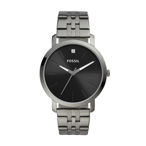 fossil Lux Luther Three-Hand Smoke Stainless Steel Watch BQ2419