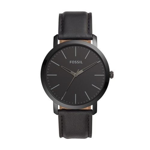 Luther Three-Hand Black Leather Watch BQ2423