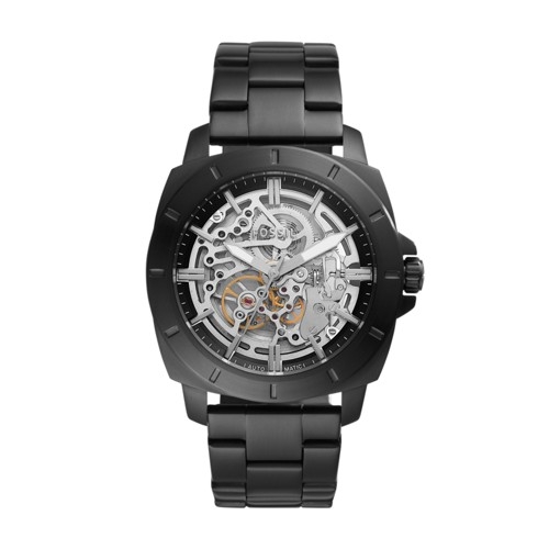 fossil Privateer Sport Mechanical Black Stainless Steel Watch BQ2426