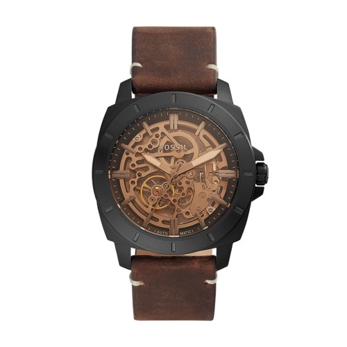 Privateer Sport Mechanical Brown Leather Watch BQ2429