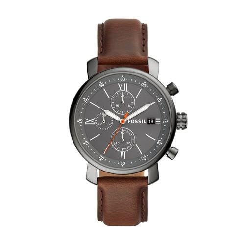 fossil Rhett Chronograph Brown Leather Watch BQ2430