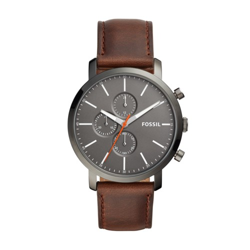 fossil Luther Chronograph Brown Leather Watch BQ2436