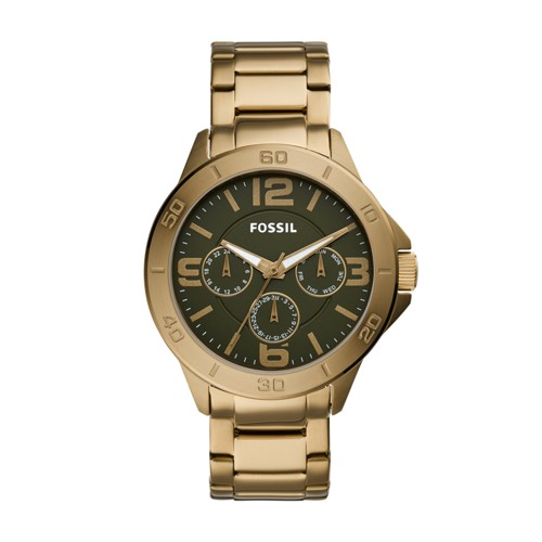 fossil Modern Century Multifunction Antique Gold-Tone Stainless Steel Watch BQ2444