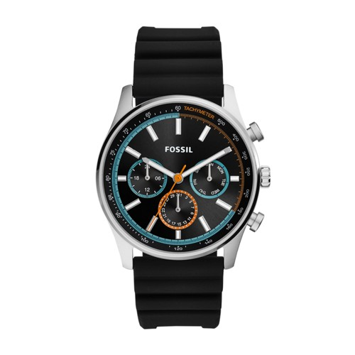 Sullivan Multifunction Black Silicone Watch BQ2445