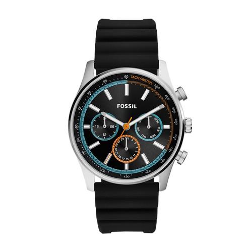 fossil Sullivan Multifunction Black Silicone Watch BQ2445