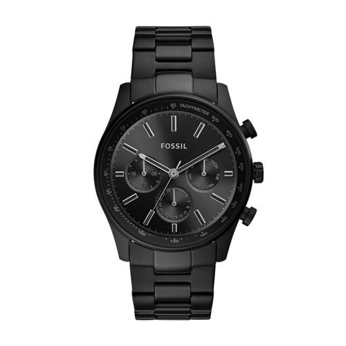 fossil Sullivan Multifunction Black Stainless Steel Watch BQ2448