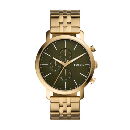 fossil Luther Chronograph Antique Gold-Tone Stainless Steel Watch BQ2450
