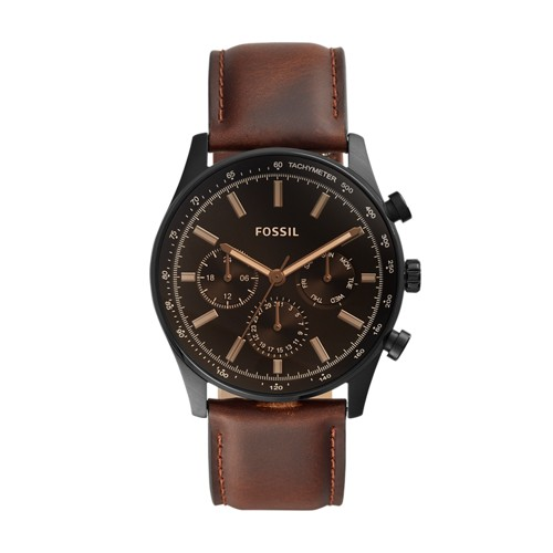 fossil Sullivan Multifunction Brown Leather Watch BQ2457