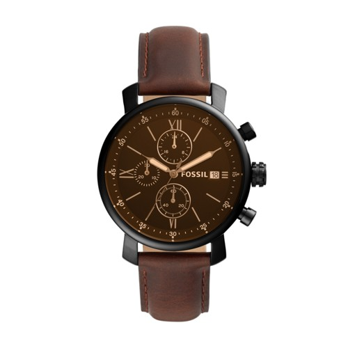 Rhett Chronograph Brown Leather Watch BQ2459